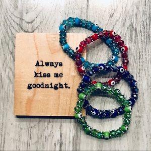 Jewelry - NWT 4 stretch glass bead bracelets